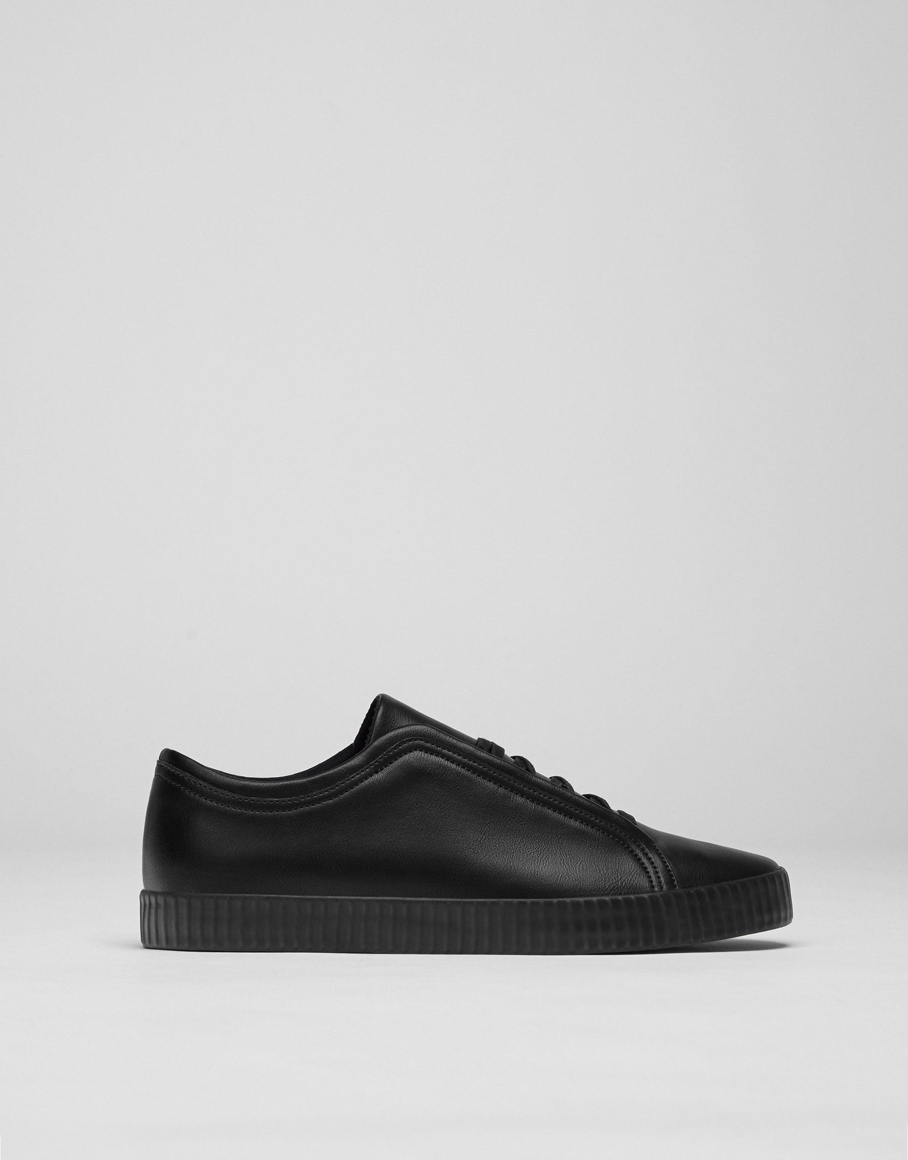 Sneakers lacci nascosti nere