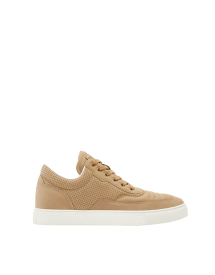 Sand-coloured fashion sneakers