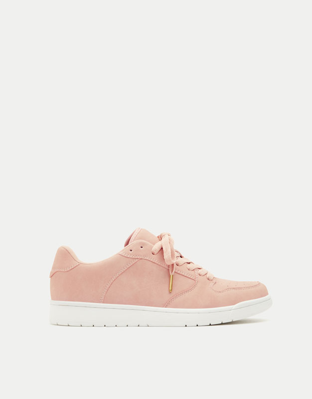 Pink retro basketball sneakers