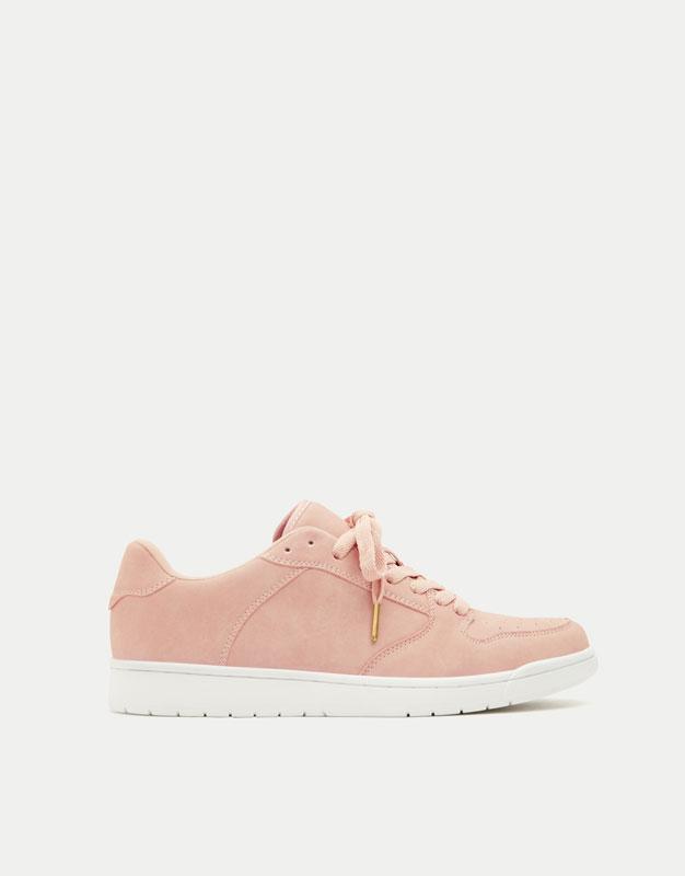 Sabatilles bàsquet retro rosa
