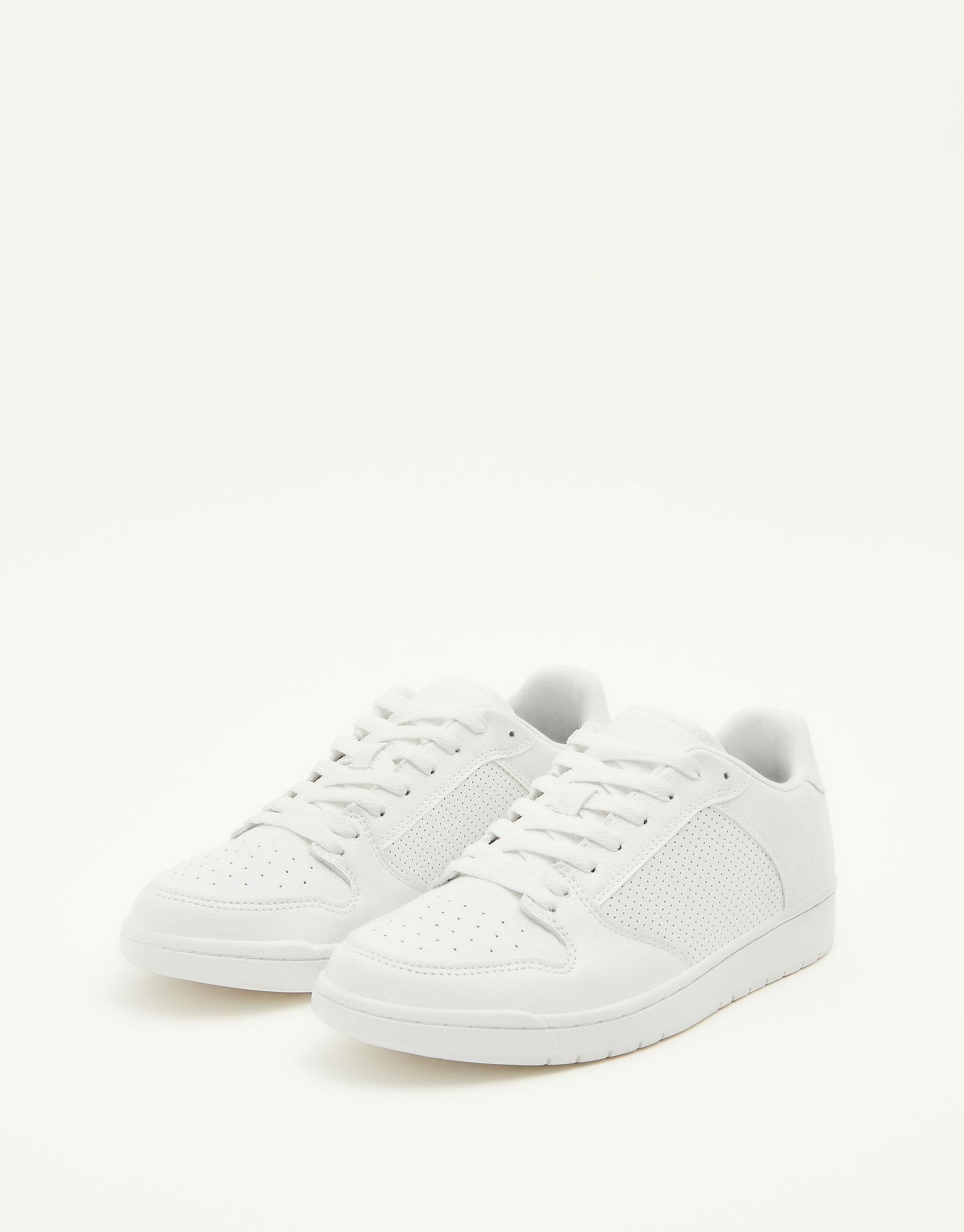 White retro basketball sneakers