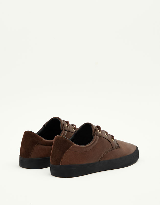 Brown coated sneakers