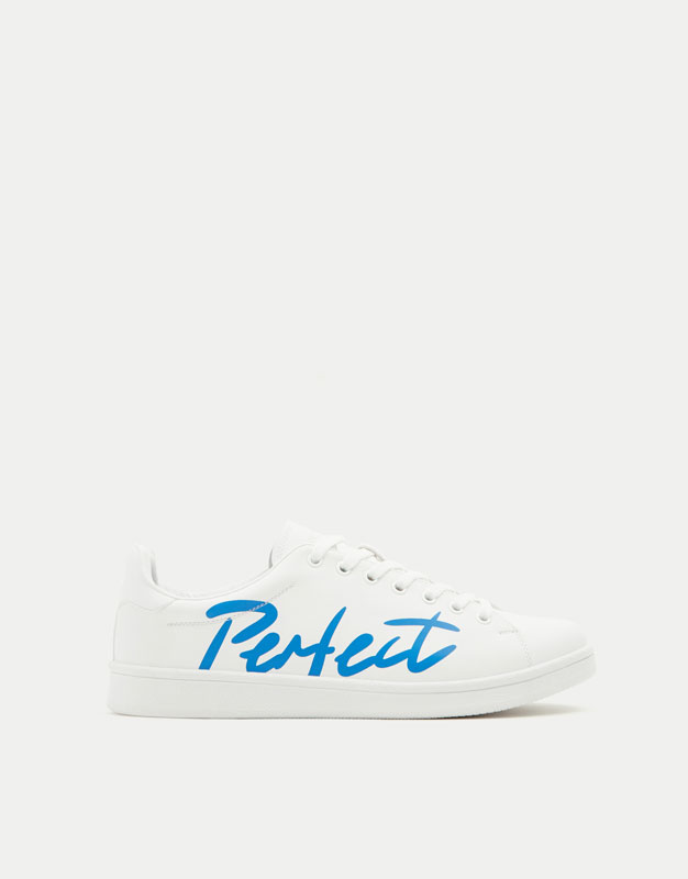 Fashion sneakers with slogan