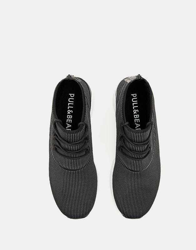 High-Top Sneaker aus Funktionsstoff