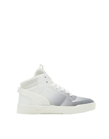Ombré high-top sneakers