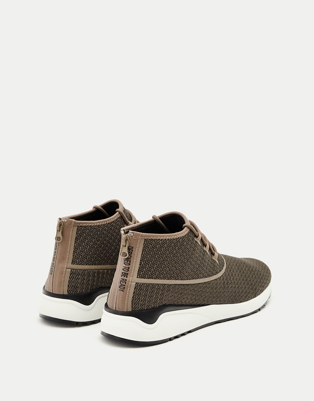 Technical hightop fashion sneakers