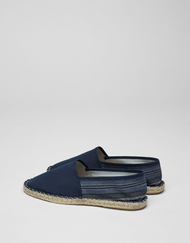 Espadrilles with embellished jute heel