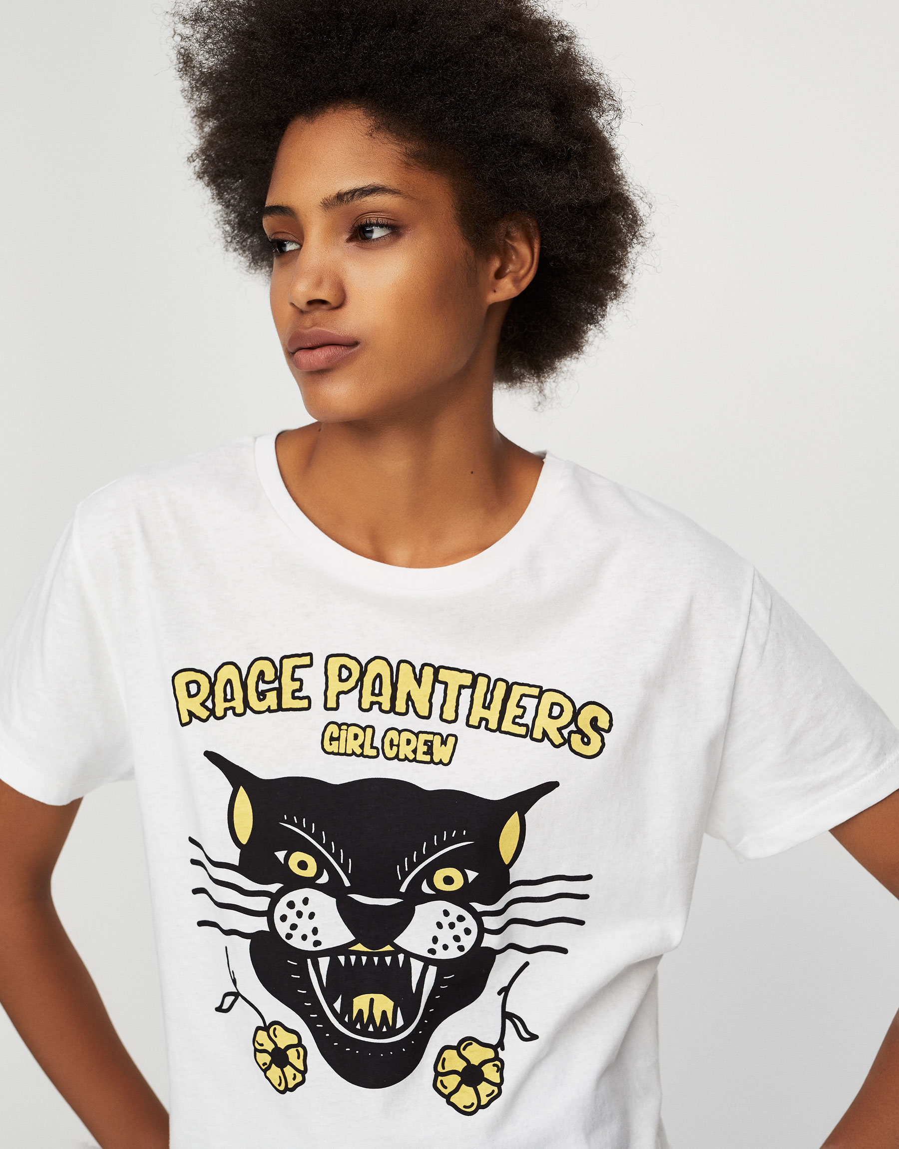 T-shirt com estampado de animais