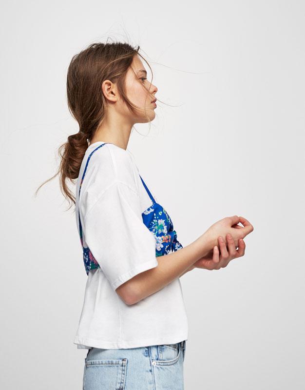 Camiseta sujetador flores