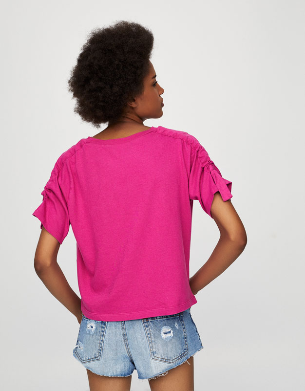 T-Shirt mit Palmengrafik