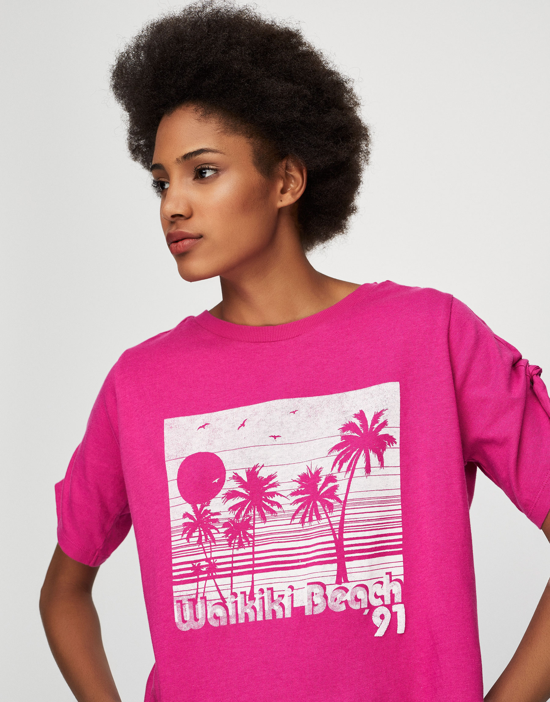 Palm tree graphic T-shirt