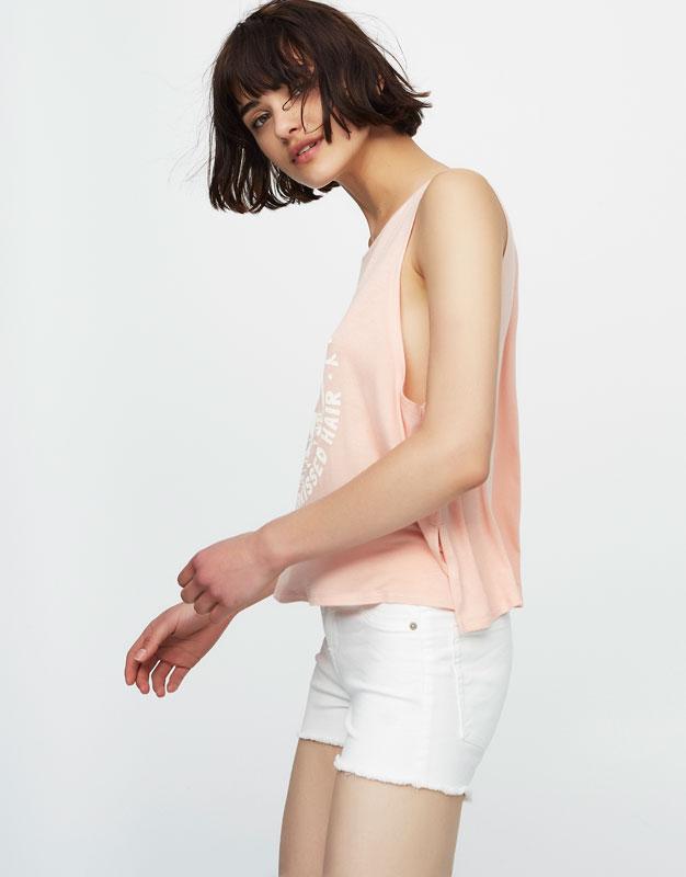 Camiseta print manga sisa