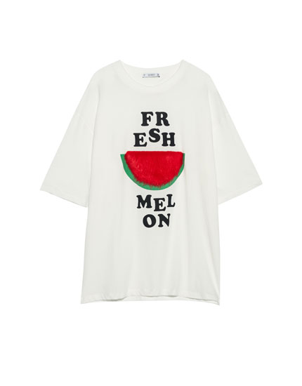 Watermelon slogan T-shirt