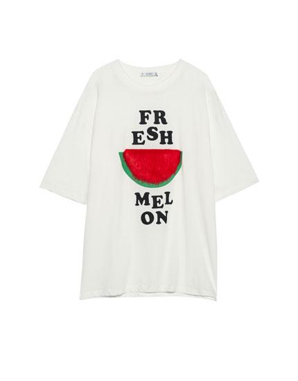 Watermelon slogan T-shirt