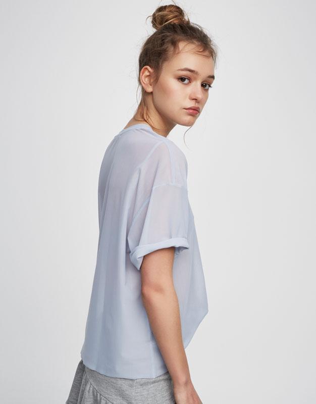 T-shirt tulle uni
