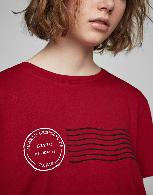 Stamp print T-shirt