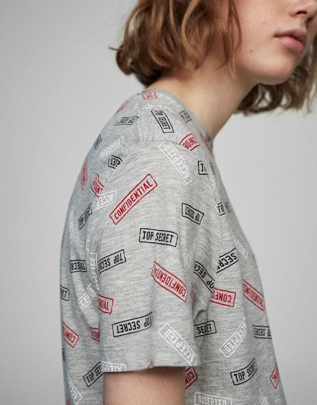 T-shirt imprimé all-over marques postales