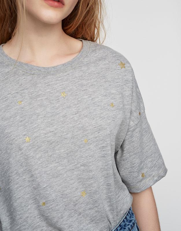 Camiseta brillos estrellas
