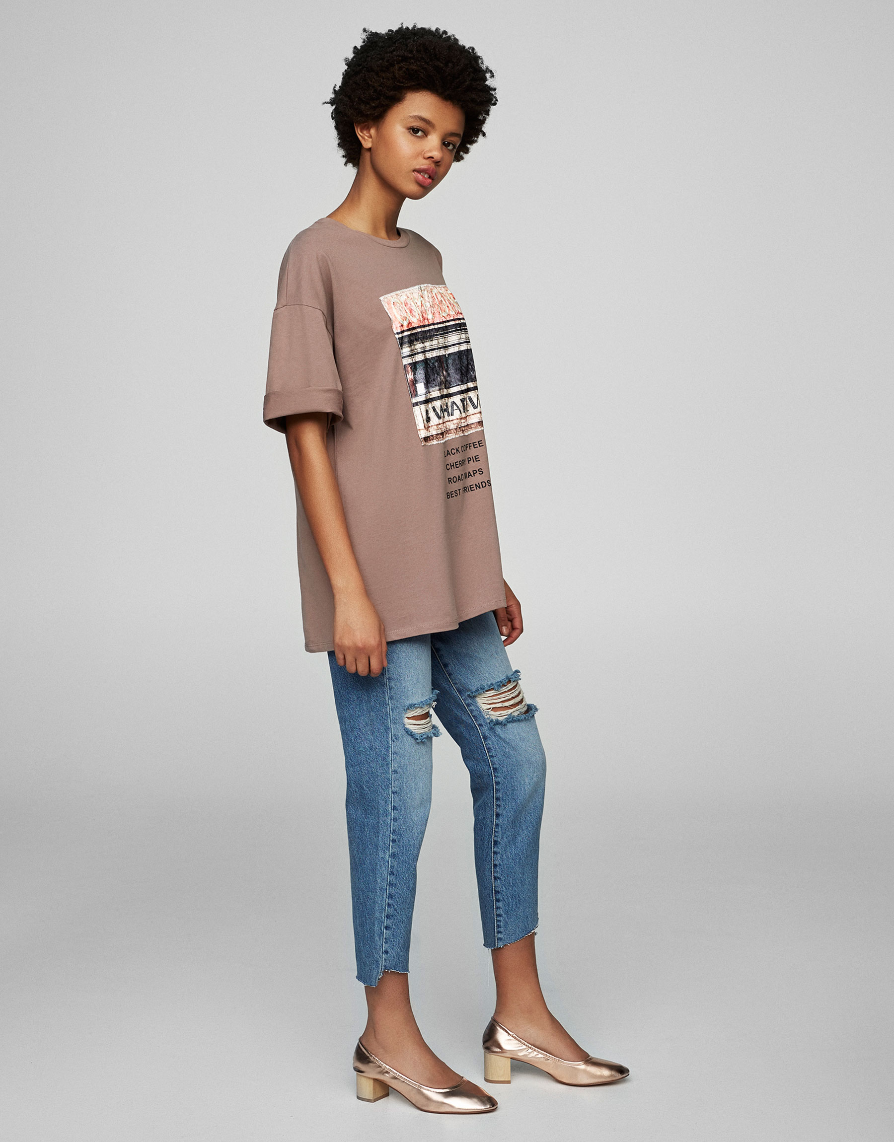 Vertical print T-shirt