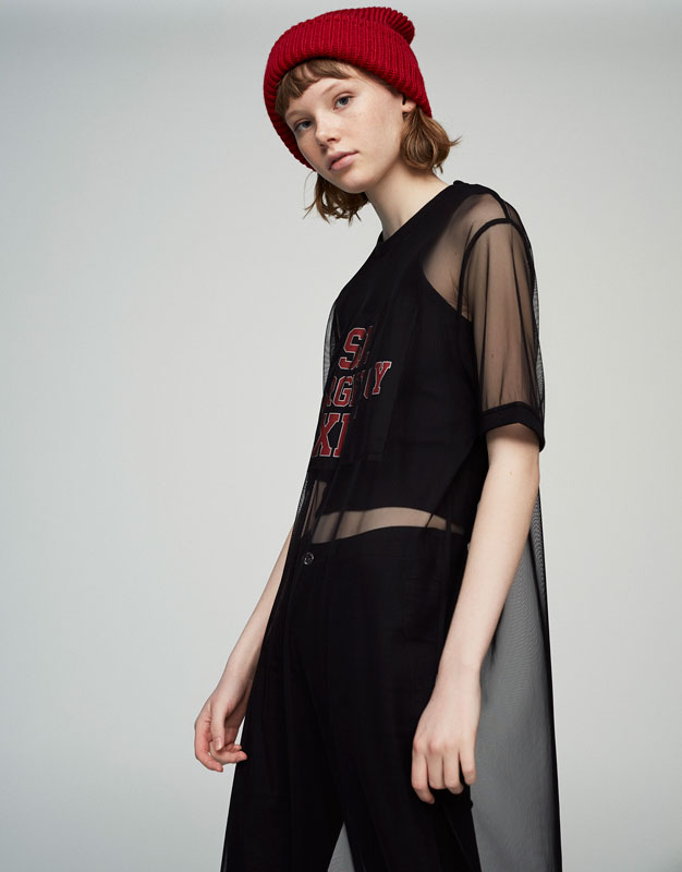 Tulle patch T-shirt