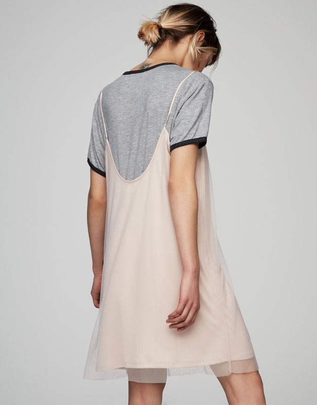 Tulle dress with low-cut back
