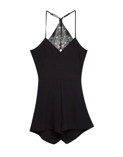 Jumpsuit with lace back
