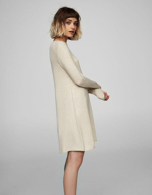 Felted knit dress