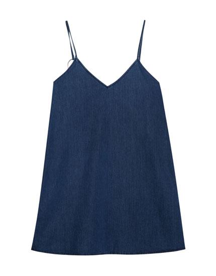 Jeanskleid mit Ring-Details an den Trägern