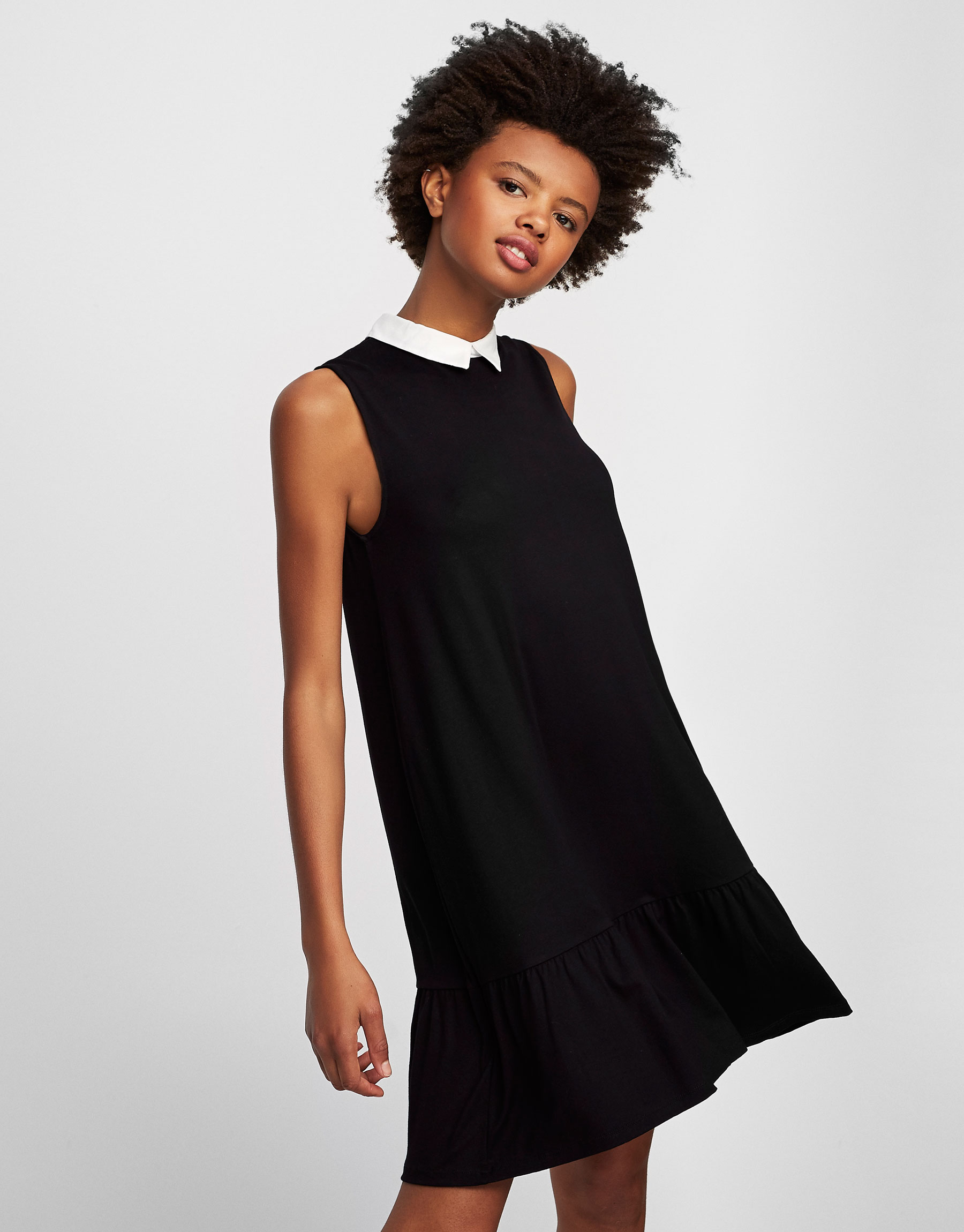 Kleid A-Linie mit Hemdkragen