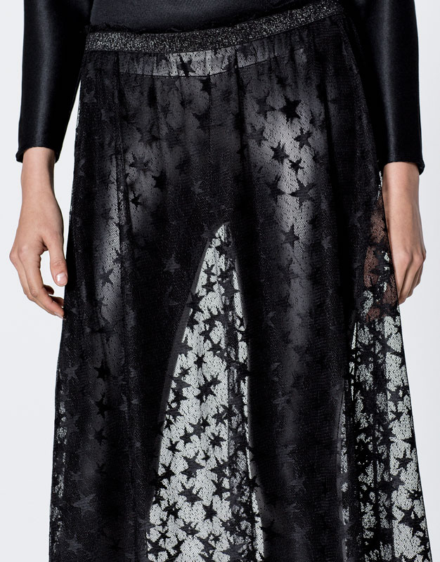 Tulle skirt with stars