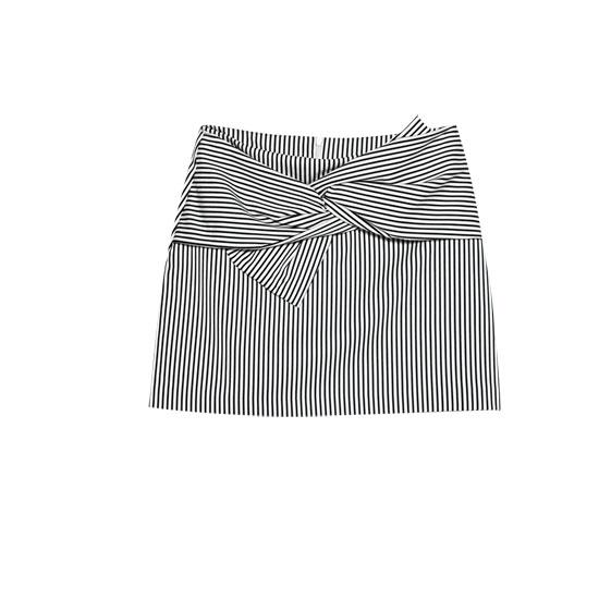 Mini-jupe nœud rayures