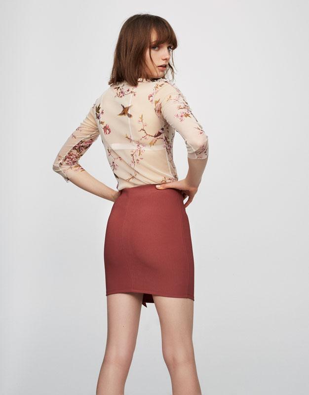 Frilled miniskirt