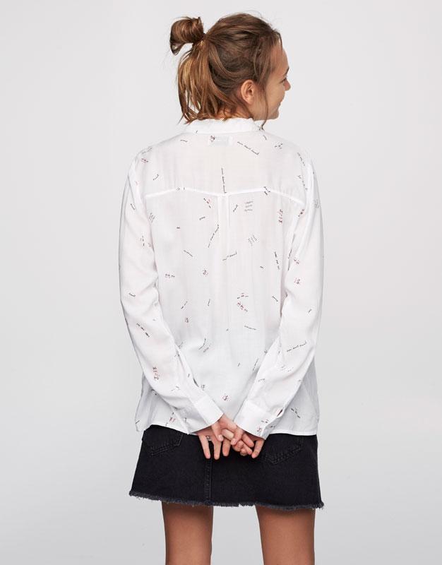 Figurative printed shirt