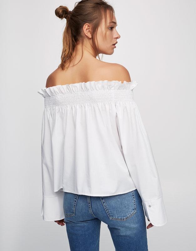 Top with stretch neckline