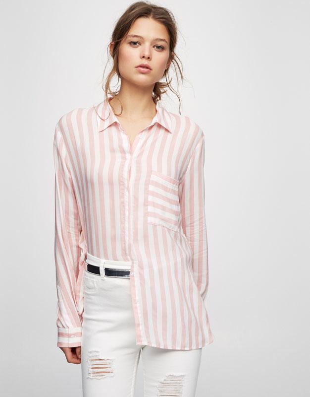 Camisa estampada màniga llarga