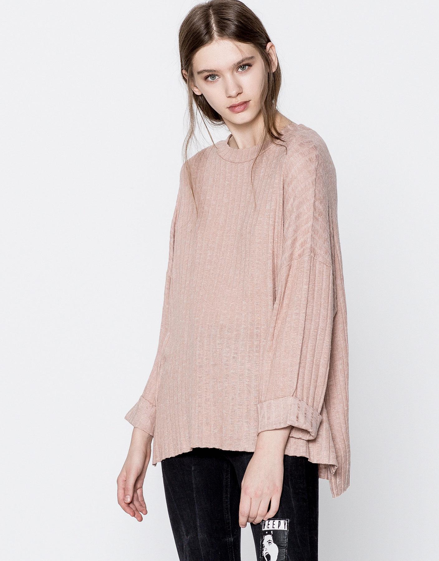 Ribbed oversized sweater