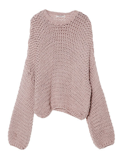 Full sleeve knit sweater