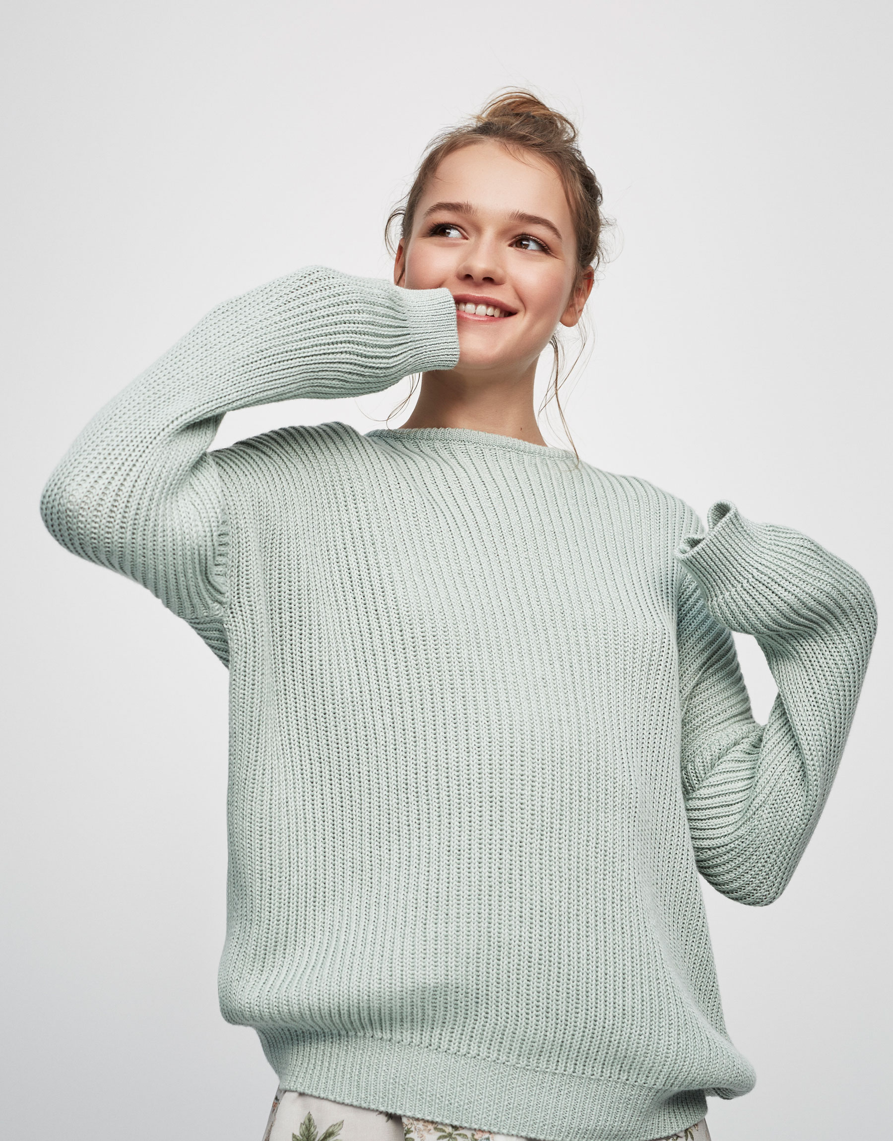 Flowing ribbed sweater