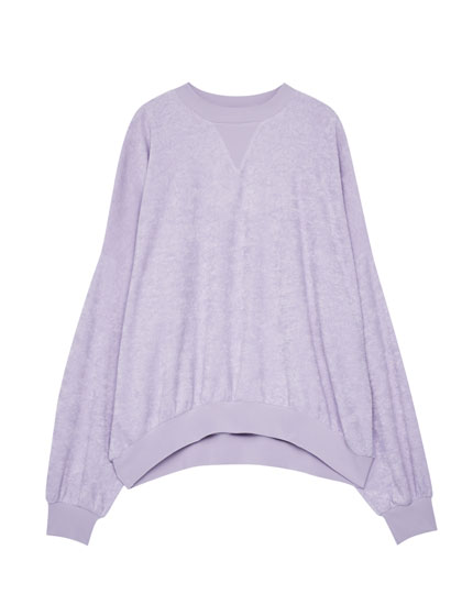 Round neck towel sweatshirt