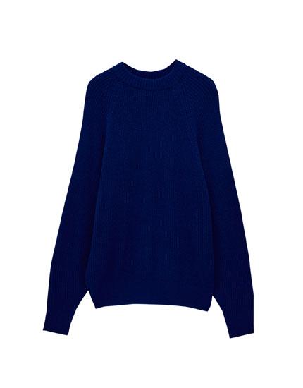 Pearl knit boyfriend sweater