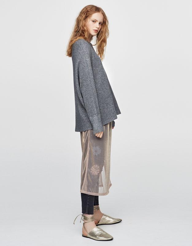 Square-cut sweater