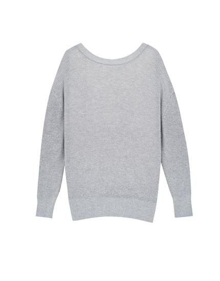 Jersey oversized escote espalda
