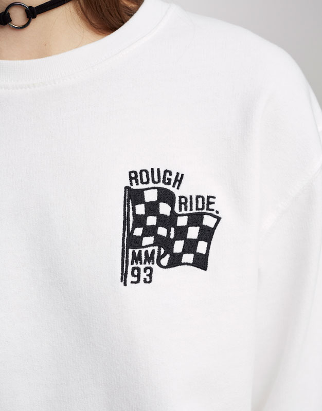 Sweatshirt with embroidered flag (Marc Márquez Collection)