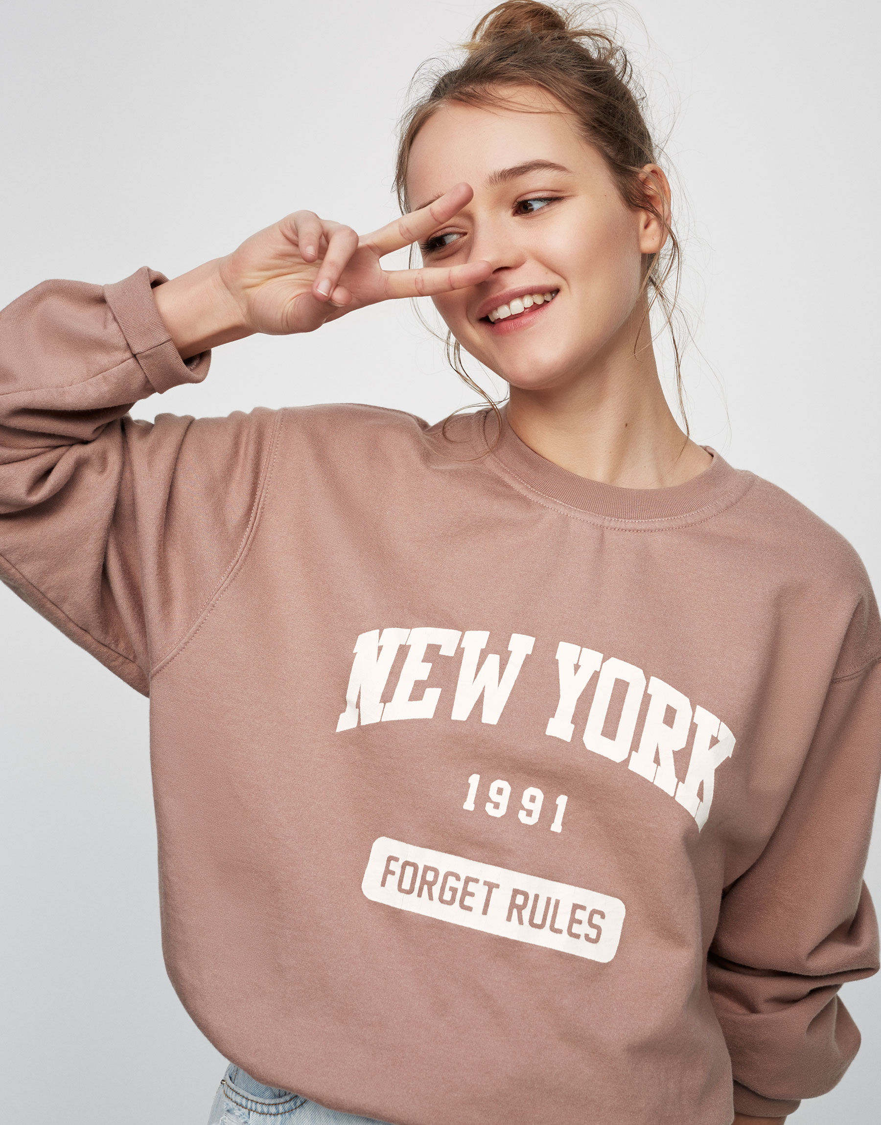 New York slogan sweatshirt