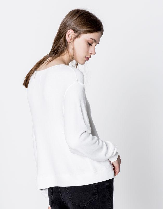 Flamingo embroidered sweatshirt