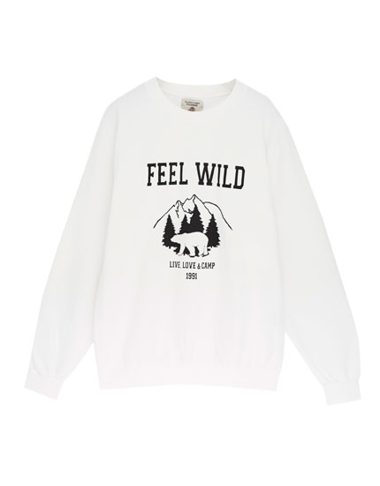 Oversized sweatshirt with print