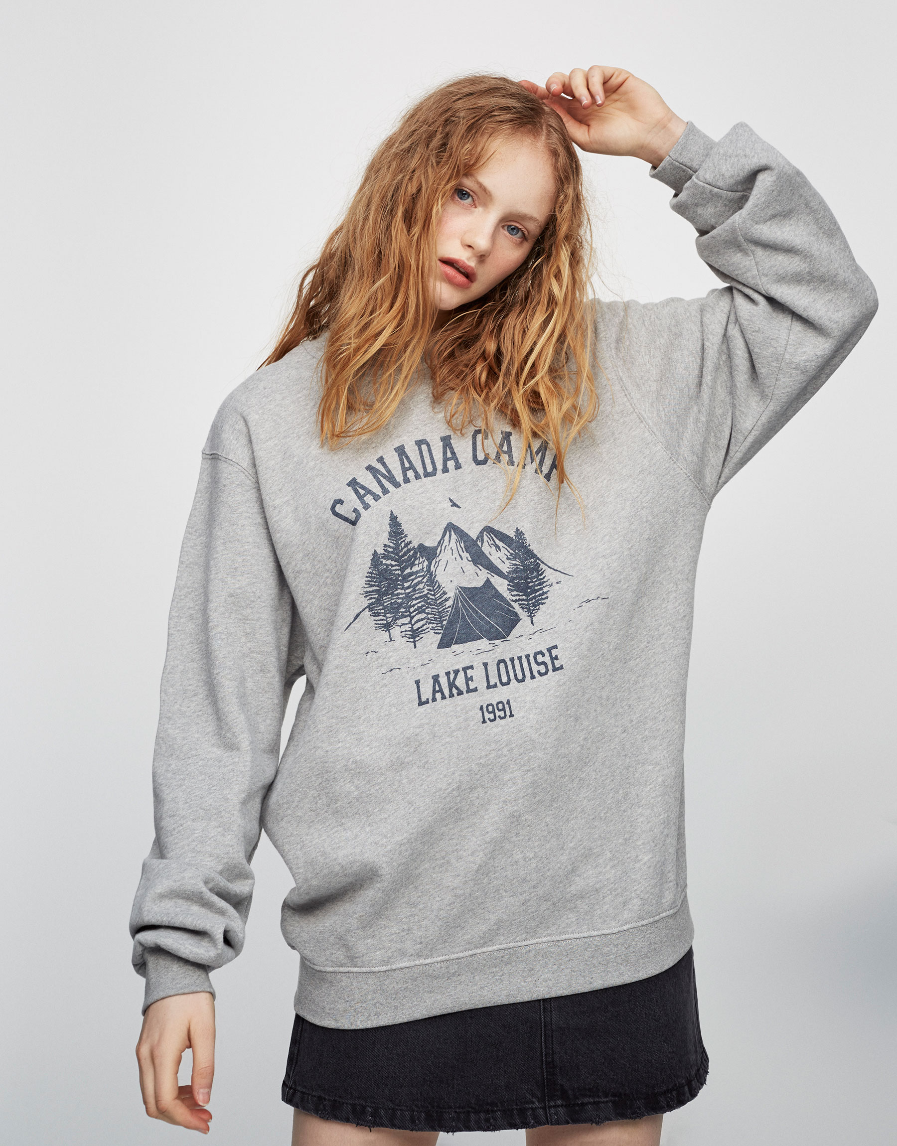 Oversized sweatshirt with print