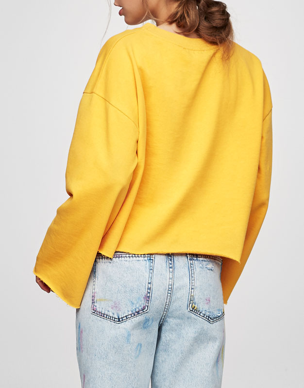 Colourful cropped sweatshirt