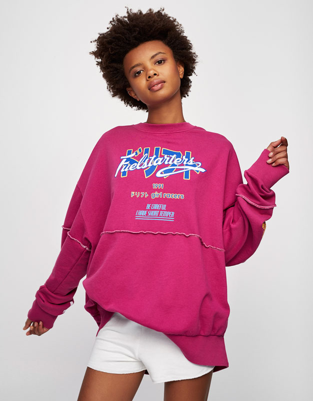 Sweat oversize sporty graphique