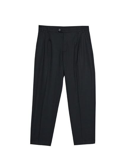 Masculine cut trousers with darts detail